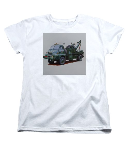 Women's T-Shirt (Standard Cut) featuring the painting Bedford Wrecker Afs by Mike Jeffries