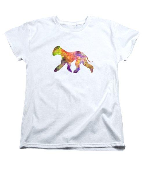 Bedlington Terrier 01 In Watercolor Women's T-Shirt (Standard Cut) by Pablo Romero