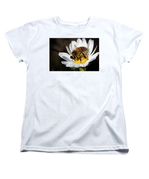Bee On The Flower Women's T-Shirt (Standard Cut) by Bruno Spagnolo