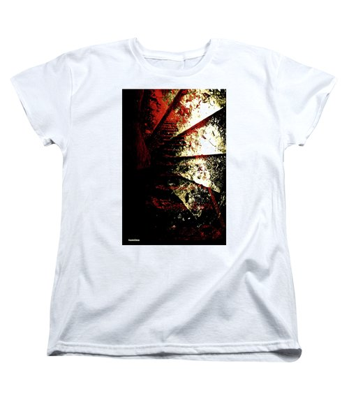 Women's T-Shirt (Standard Cut) featuring the photograph Before You Go Upstairs by Danica Radman
