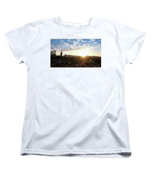 Beginning A New Day Women's T-Shirt (Standard Cut) by Monte Stevens