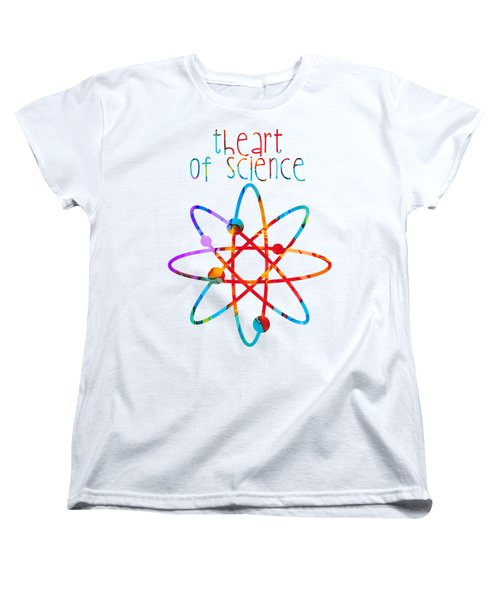 Women's T-Shirt (Standard Cut) featuring the painting Beginnings Abstract by Nikki Marie Smith
