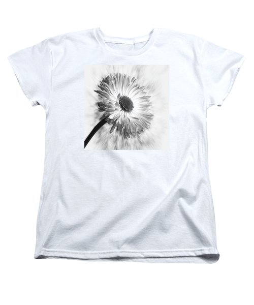 Bellis In Mono  #flower #flowers Women's T-Shirt (Standard Cut) by John Edwards