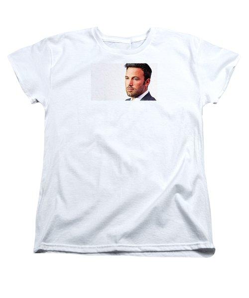 Ben Affleck Women's T-Shirt (Standard Cut) by Iguanna Espinosa
