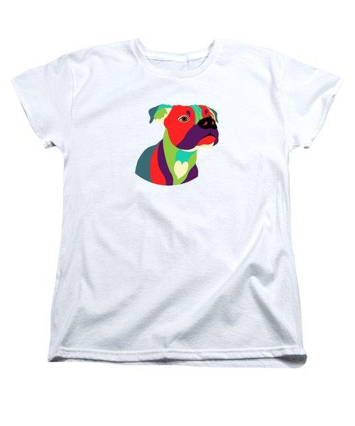 Bennie The Boxer Dog - Wpap Women's T-Shirt (Standard Cut) by SharaLee Art
