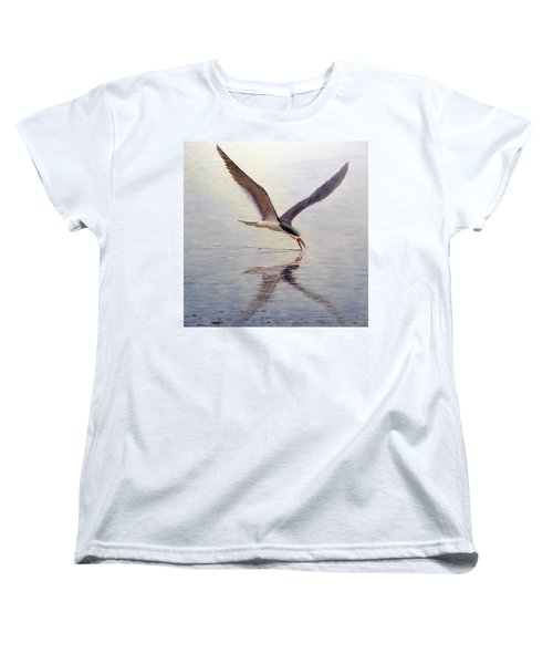 Women's T-Shirt (Standard Cut) featuring the painting Black Skimmer by Joe Bergholm