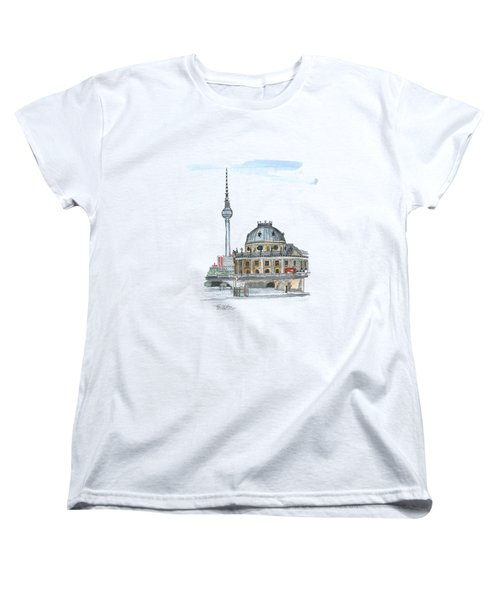 Berlin Fernsehturm Women's T-Shirt (Standard Cut) by Petra Stephens