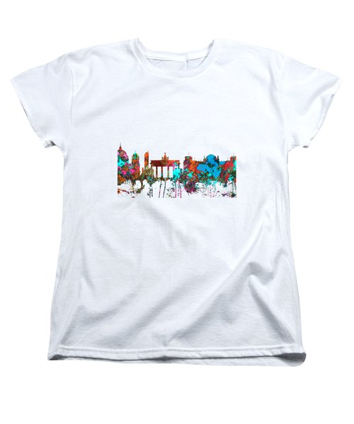 Berlin Germany Skyline  Women's T-Shirt (Standard Cut) by Marlene Watson