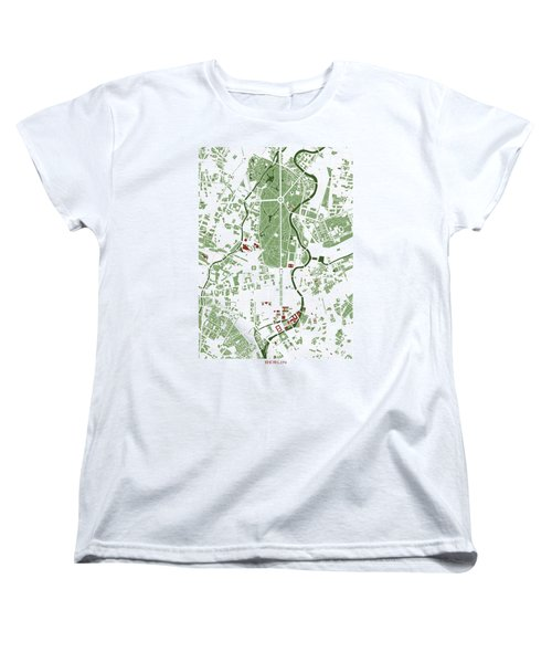 Berlin Minimal Map Women's T-Shirt (Standard Cut) by Jasone Ayerbe- Javier R Recco