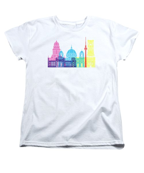 Berlin V2 Skyline Pop Women's T-Shirt (Standard Cut) by Pablo Romero
