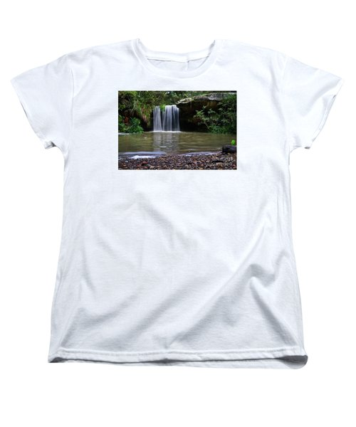 Women's T-Shirt (Standard Cut) featuring the photograph Berowra Waterfall by Werner Padarin