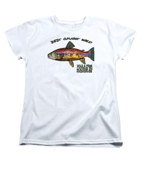 Fishing - Best Caught Wild - On Light No Hat Women's T-Shirt (Standard Cut)