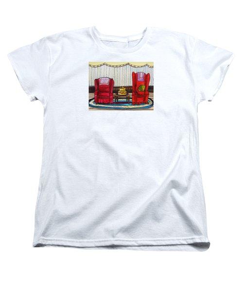 Between Two Reds Women's T-Shirt (Standard Cut) by John Williams