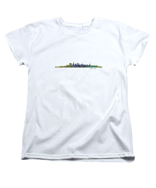 Beverly Hills City In La City Skyline Hq V1 Women's T-Shirt (Standard Cut) by HQ Photo