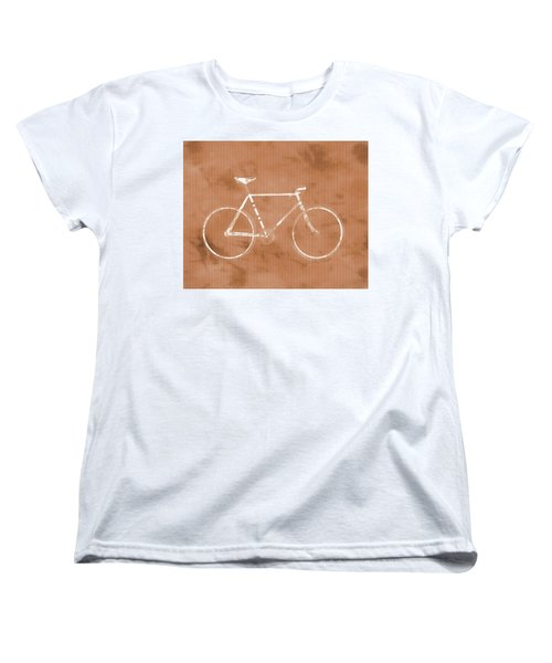 Bicycle On Tile Women's T-Shirt (Standard Cut) by Dan Sproul