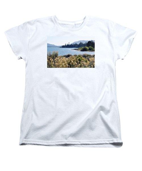 Big Bear Lake Shoreline Women's T-Shirt (Standard Cut) by Kyle Hanson