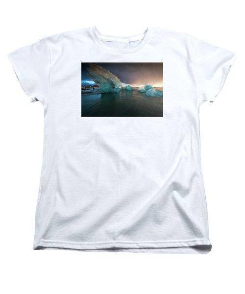 Big Ice Women's T-Shirt (Standard Cut) by Allen Biedrzycki