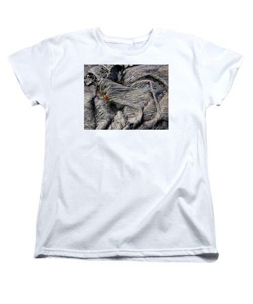 Big Island Lava Flow Women's T-Shirt (Standard Cut) by Amelia Racca