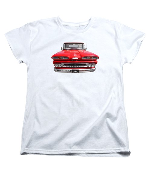 Women's T-Shirt (Standard Cut) featuring the photograph Big Red - 1960 Chevy by Gill Billington