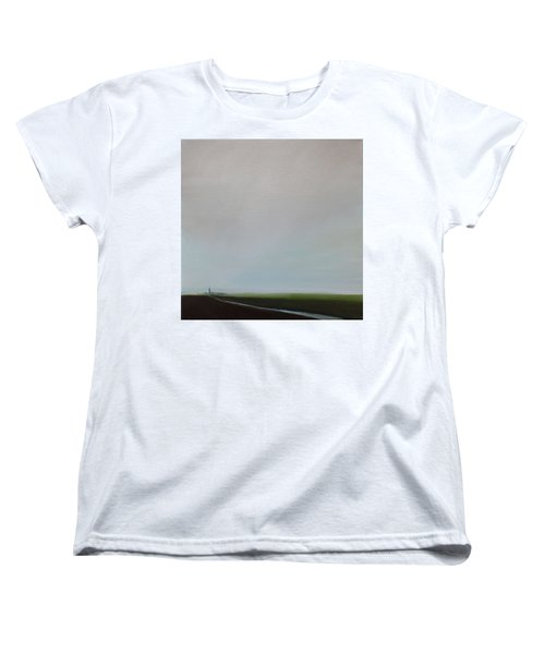 Women's T-Shirt (Standard Cut) featuring the painting Big Sky by Tone Aanderaa
