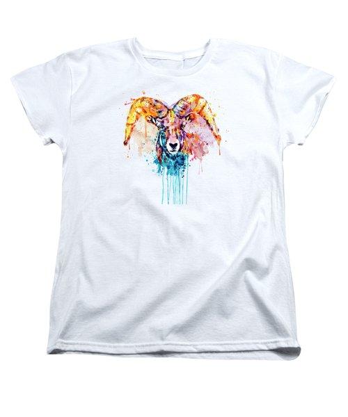 Bighorn Sheep Portrait Women's T-Shirt (Standard Fit)