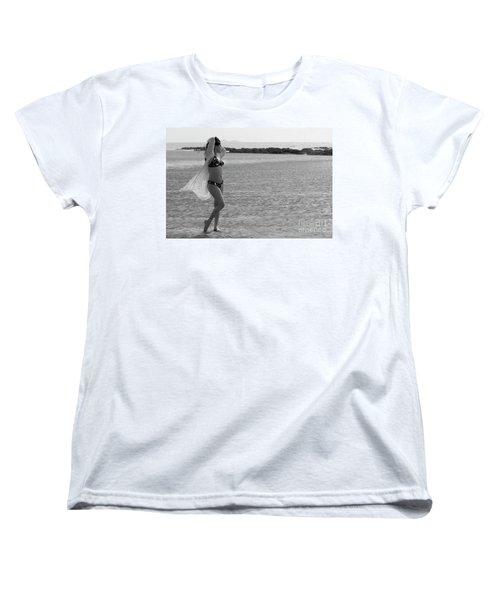 Bikini Girl Women's T-Shirt (Standard Cut) by Kiran Joshi