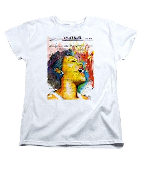 Billie's Blues Women's T-Shirt (Standard Cut) by Howard Barry