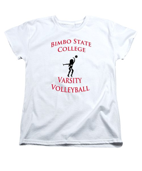 Bimbo State College - Varsity Volleyball Women's T-Shirt (Standard Cut) by Bill Cannon