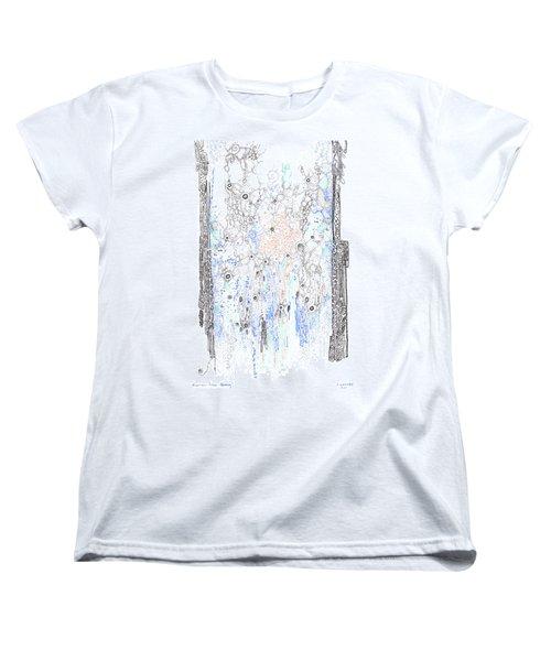 Bingham Fluid Or Paste Women's T-Shirt (Standard Cut) by Regina Valluzzi