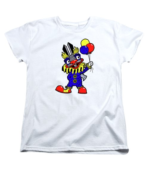 Binky The Bunny Clown Women's T-Shirt (Standard Cut) by Bizarre Bunny