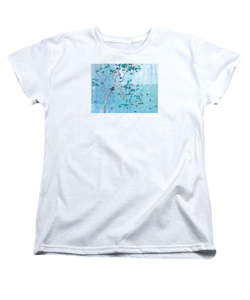 Bird In A Tree-1 Women's T-Shirt (Standard Cut) by Nina Bradica