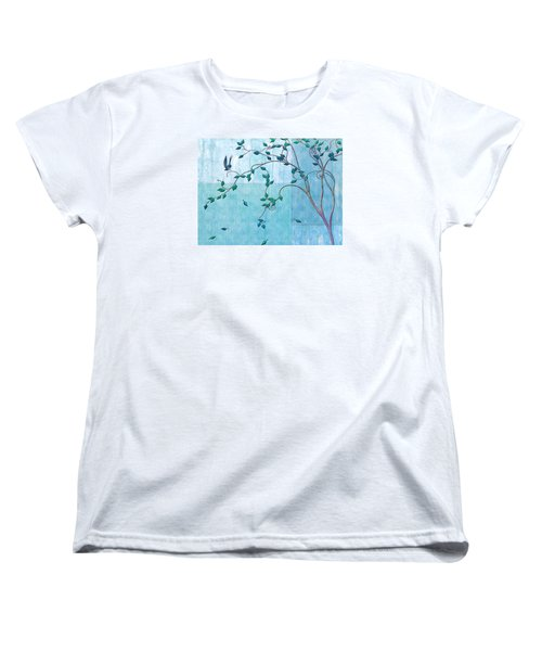 Bird In A Tree-2 Women's T-Shirt (Standard Cut) by Nina Bradica