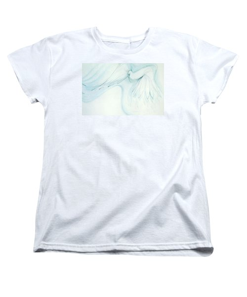 Bird In Flight Women's T-Shirt (Standard Cut) by Denise Fulmer