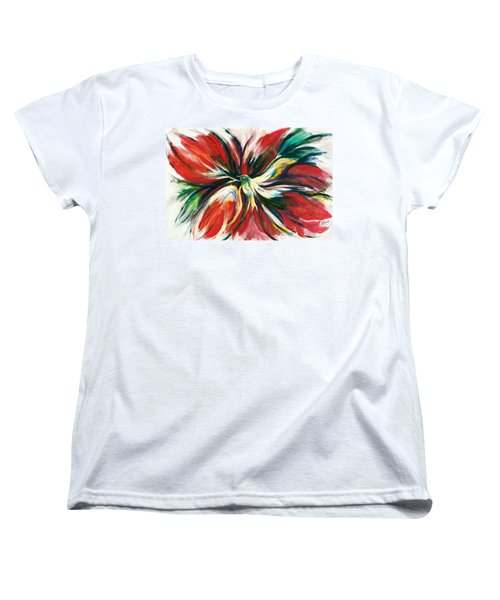 Women's T-Shirt (Standard Cut) featuring the painting Bird Of Haven by Laila Awad Jamaleldin