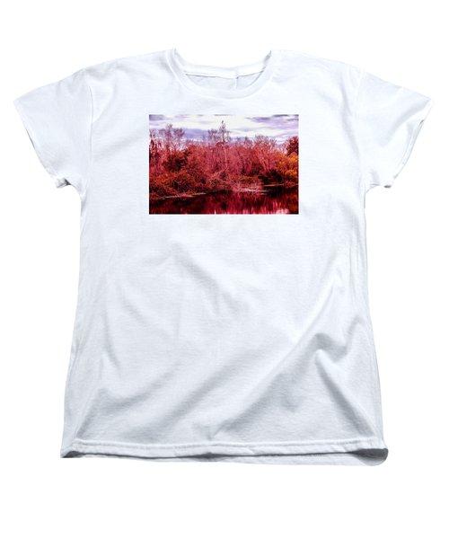 Women's T-Shirt (Standard Cut) featuring the photograph Bird Out On A Limb 2 by Madeline Ellis