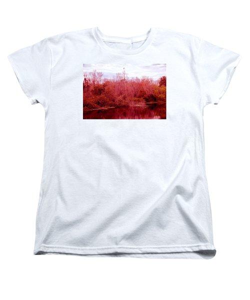 Women's T-Shirt (Standard Cut) featuring the photograph Bird Out On A Limb by Madeline Ellis