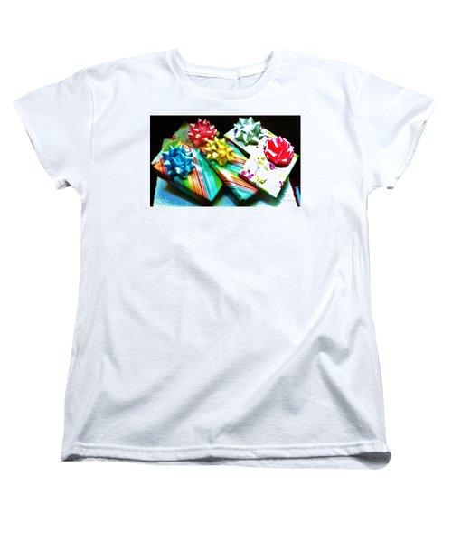 Birthday Presents Women's T-Shirt (Standard Cut) by Denise Fulmer
