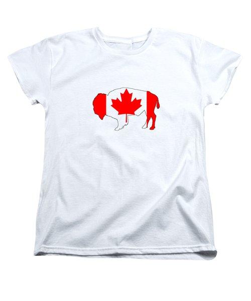 Bison Canada Women's T-Shirt (Standard Cut) by Mordax Furittus