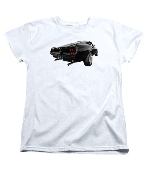 Black 1967 Mustang Women's T-Shirt (Standard Cut) by Gill Billington