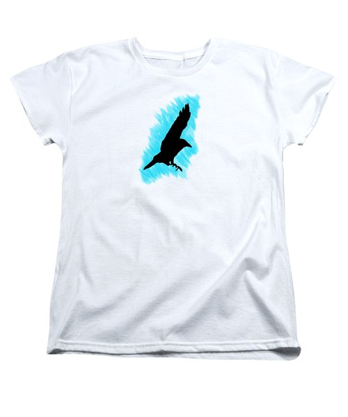 Black And Blue Women's T-Shirt (Standard Cut) by Linsey Williams