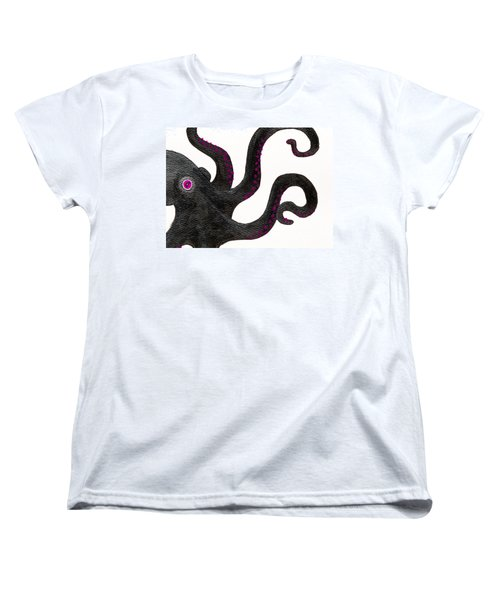 Black And Purple Octopus Women's T-Shirt (Standard Cut)
