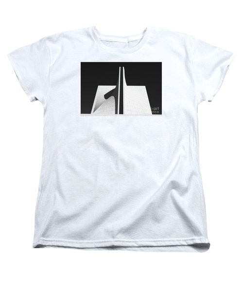 Women's T-Shirt (Standard Cut) featuring the photograph Black And White Building by MGL Meiklejohn Graphics Licensing