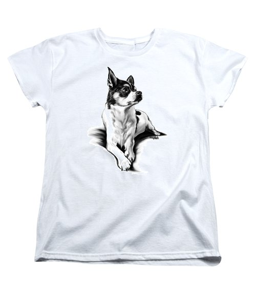 Black And White Chihuahua By Spano Women's T-Shirt (Standard Cut) by Michael Spano