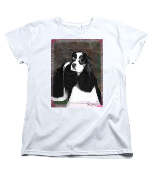 Women's T-Shirt (Standard Cut) featuring the photograph Black And White Cookie by EricaMaxine  Price