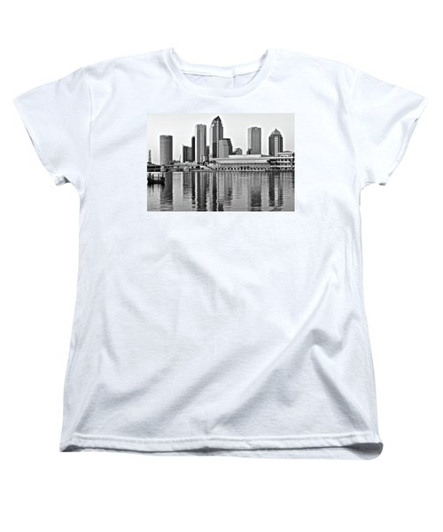 Black And White In The Heart Of Tampa Bay Women's T-Shirt (Standard Cut) by Frozen in Time Fine Art Photography