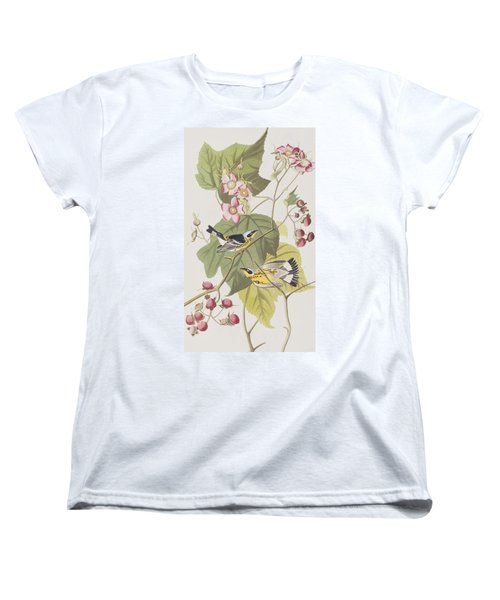 Black And Yellow Warblers Women's T-Shirt (Standard Cut) by John James Audubon