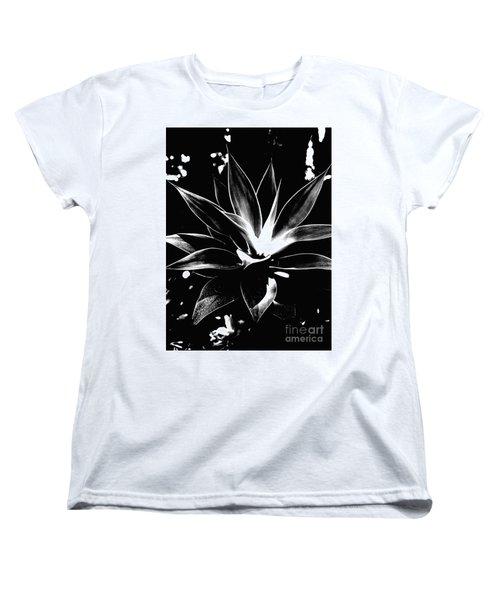 Black Cactus  Women's T-Shirt (Standard Cut) by Rebecca Harman