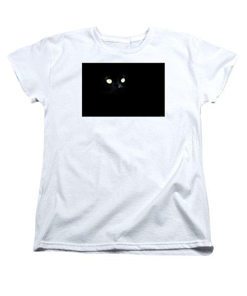 Black Cat Women's T-Shirt (Standard Cut) by Ryan Wyckoff