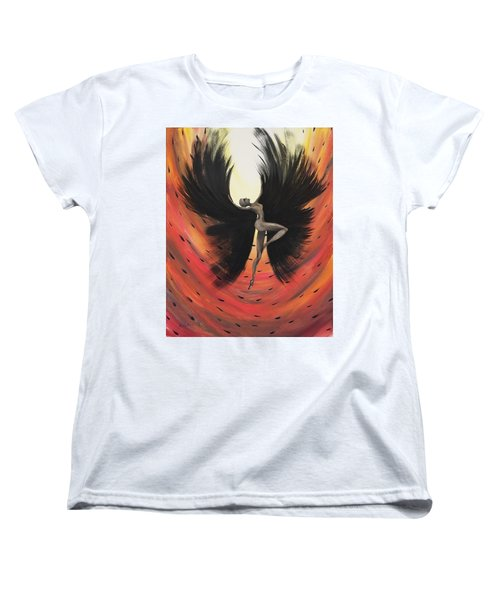Women's T-Shirt (Standard Cut) featuring the painting Black Fairy by Edwin Alverio