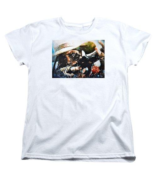 Black Powder Women's T-Shirt (Standard Cut) by Traci Goebel